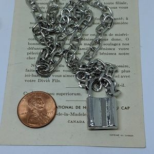 Jewelry - Silver Padlock Pad Lock Chain Pendant Necklace
